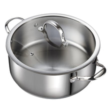 Load image into Gallery viewer, Cooks Standard 7-Quart Classic Stainless Steel Dutch Oven Casserole Stockpot with Lid