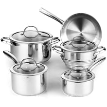 Load image into Gallery viewer, Cooks Standard 9-Piece Classic Stainless Steel Cookware Set