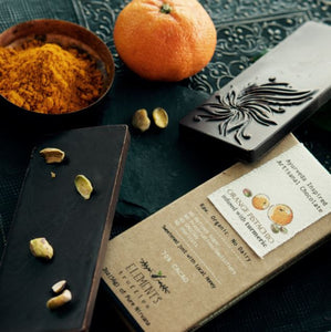 Orange Pistachio Bar with Turmeric Infusion - 3 Chocolate Bars