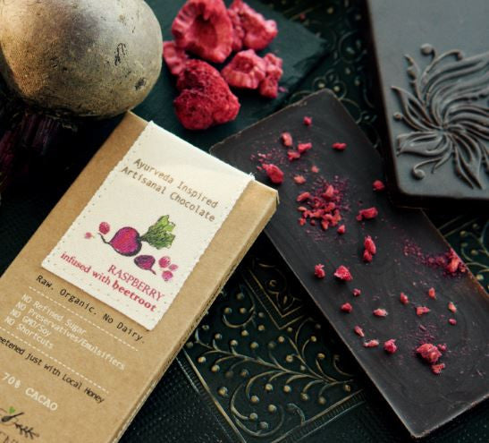 Raspberry Bar With Beetroot Infusion - 3 Chocolate Bars