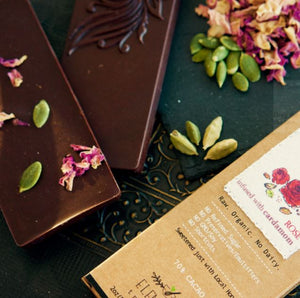 Rose Bar With Cardamom Infusion - 3 Chocolate Bars