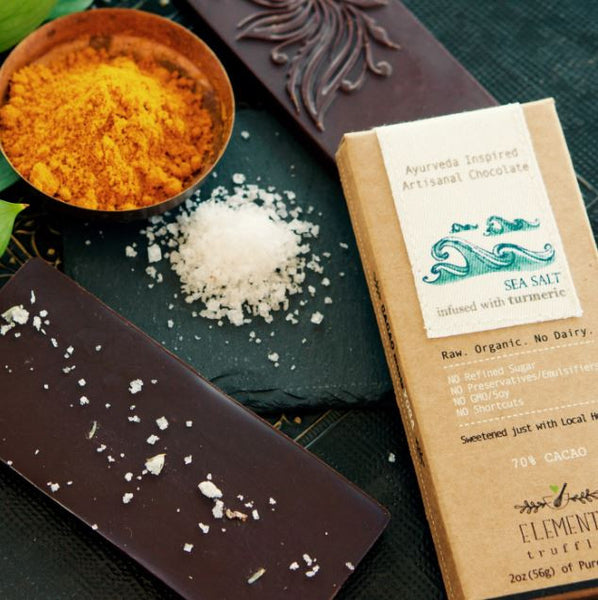 Sea Salt Bar With Turmeric Infusion - 3 Chocolate Bars