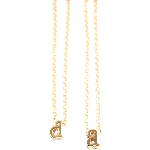 Feather Initial Necklace