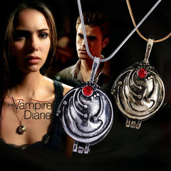 Image of Vampire Diaries Esther's Talisman Locket Vintage Necklace