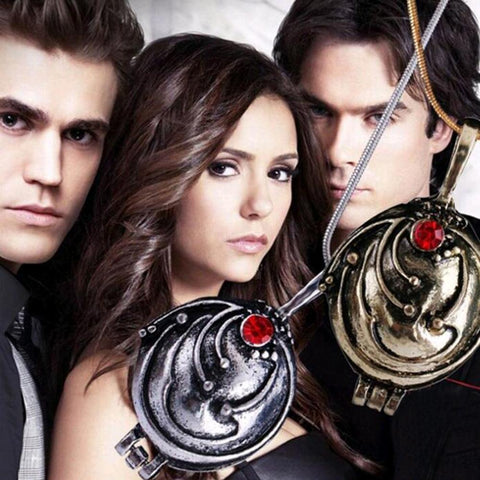 Vampire Diaries Esther's Talisman Locket Vintage Necklace