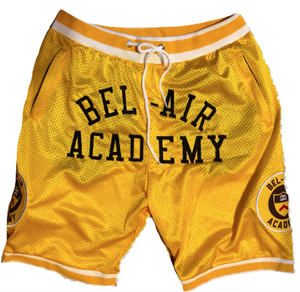 YELLOW BEL-AIR ACADEMY™ BASKETBALL SHORTS