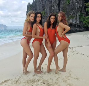 RED is the new Black! Beauty queens stun in red bikinis in Palawan