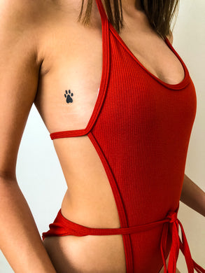 Baba One Piece Dark Red