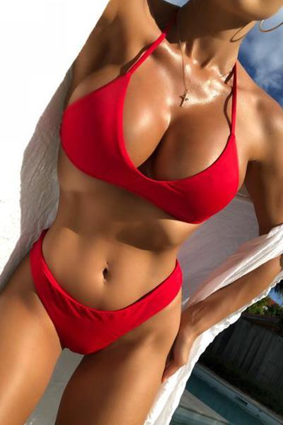 Bikini Trouble in Paradise Red
