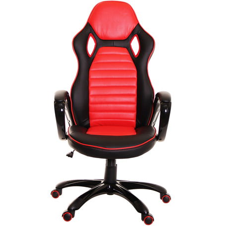 Race Car Style Office Chair Gaming Ergonomic Leather Chair by TimeOffice