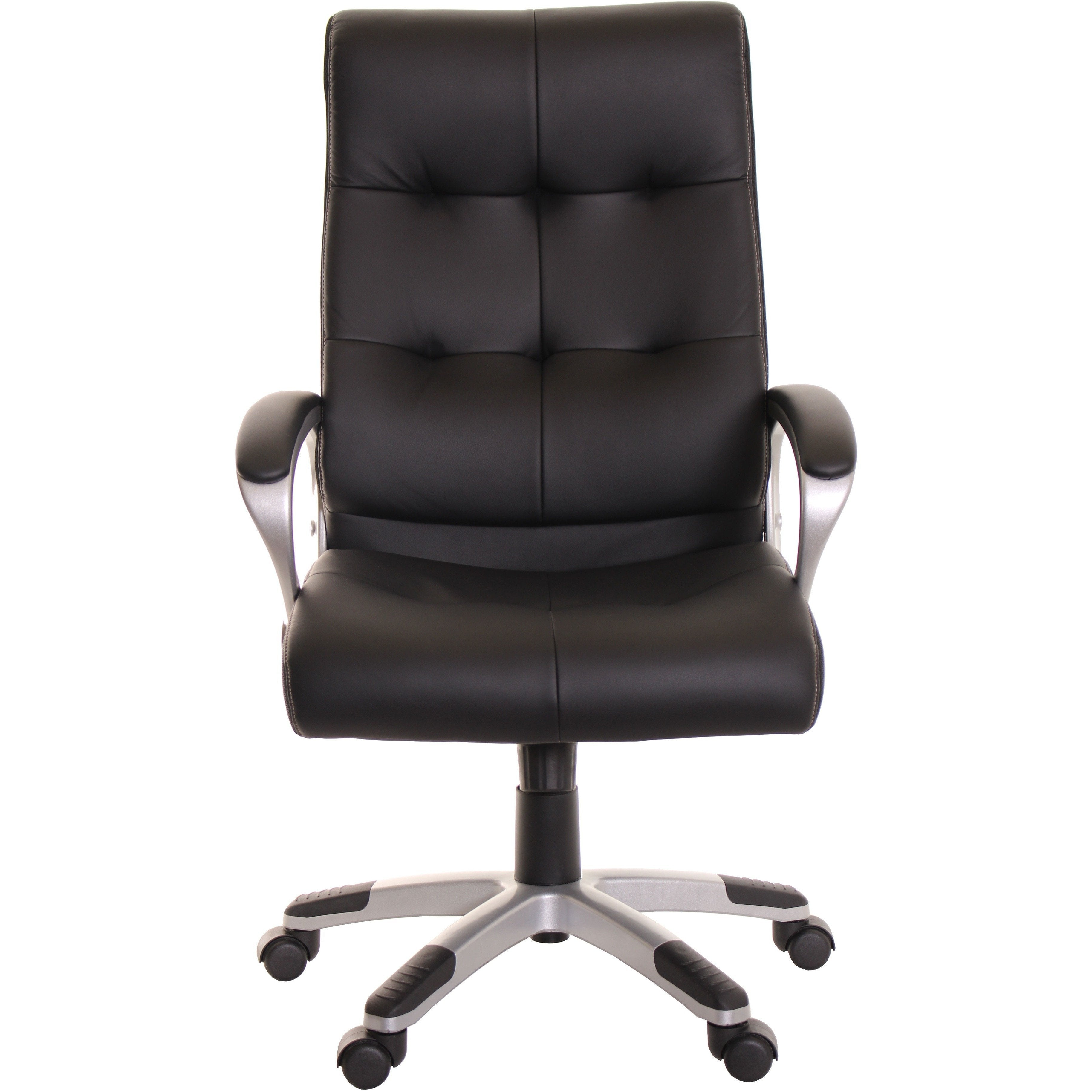 High Back Leather Office Task Chair Black Computer Chair By TimeOffice