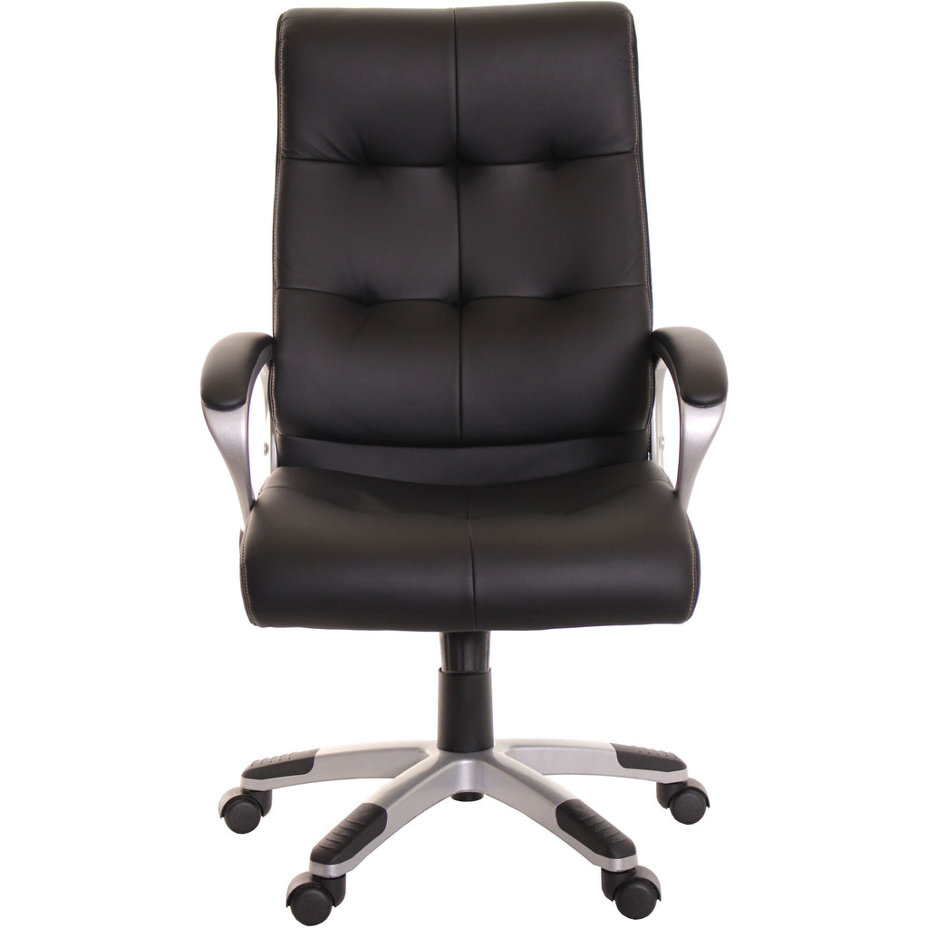 High Back Leather Office Task Chair Black Computer Chair by TimeOffice - Time Office Furniture