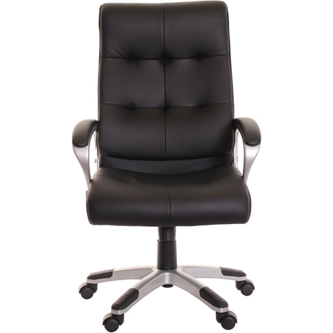 High Back Leather Office Task Chair Black Computer Chair By TimeOffice    Time Office Furniture