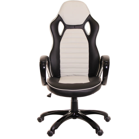 Race Car Style Office Chair Gaming Ergonomic Leather Chair  by Time Office - Time Office Furniture