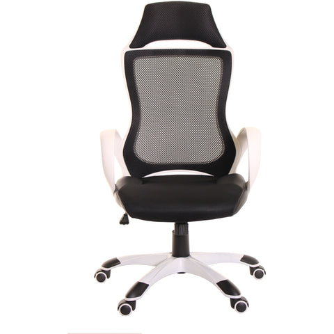 Black Mesh Task Office Chair High Back Chair by Time Office