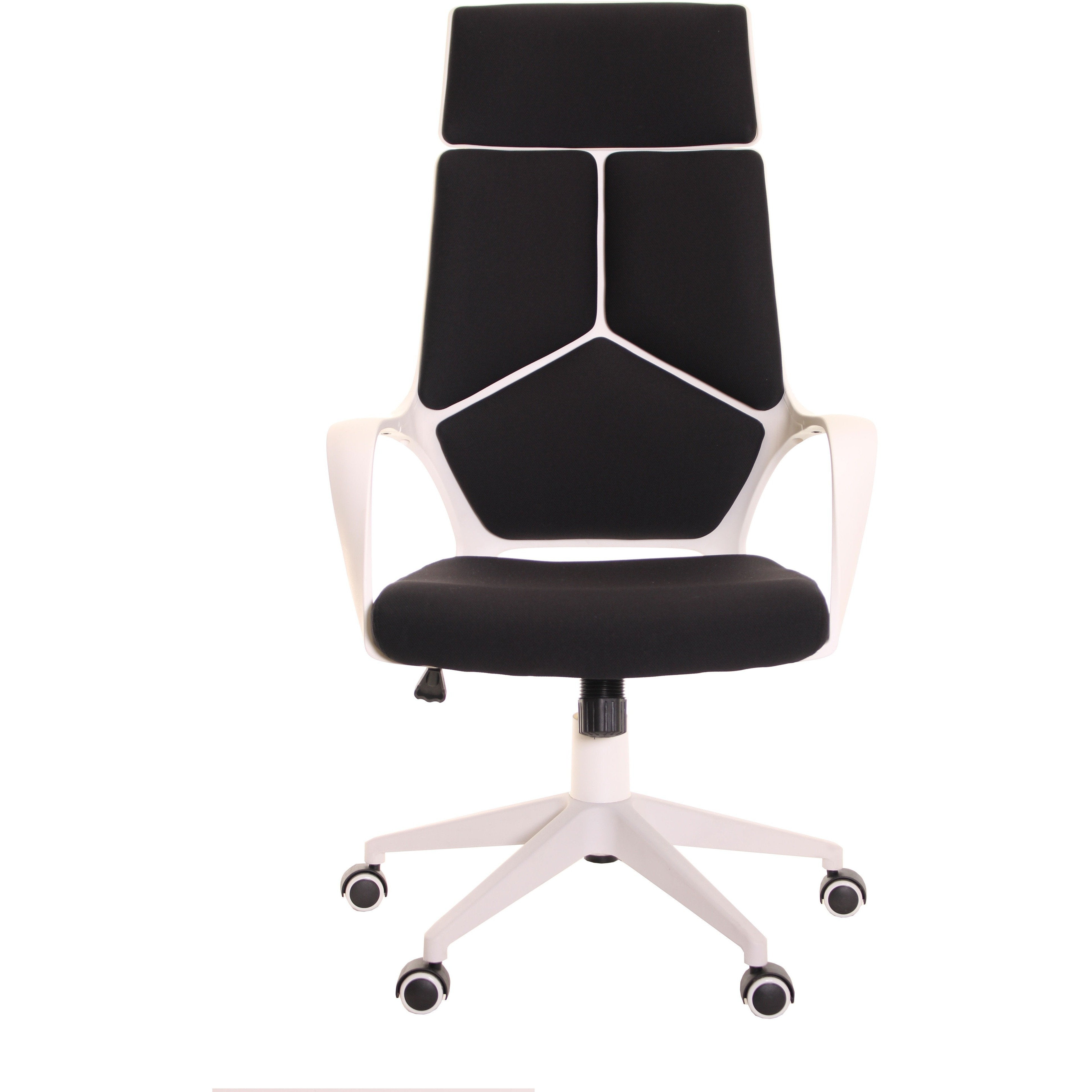 Delightful Modern Ergonomic Office Chair Black White By TimeOffice