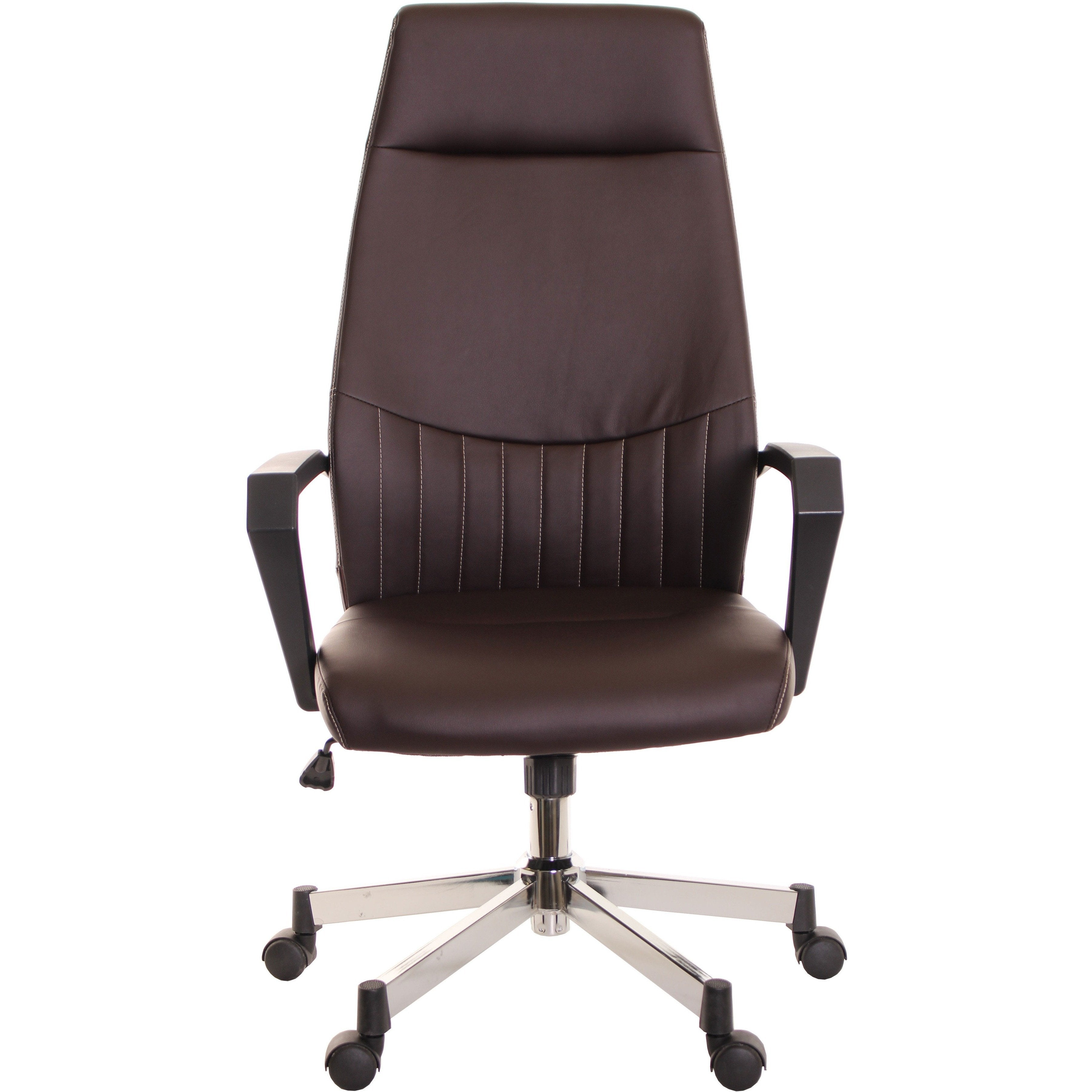 Etonnant High Back Leather Task Chair Ergonomic Brown By TimeOffice