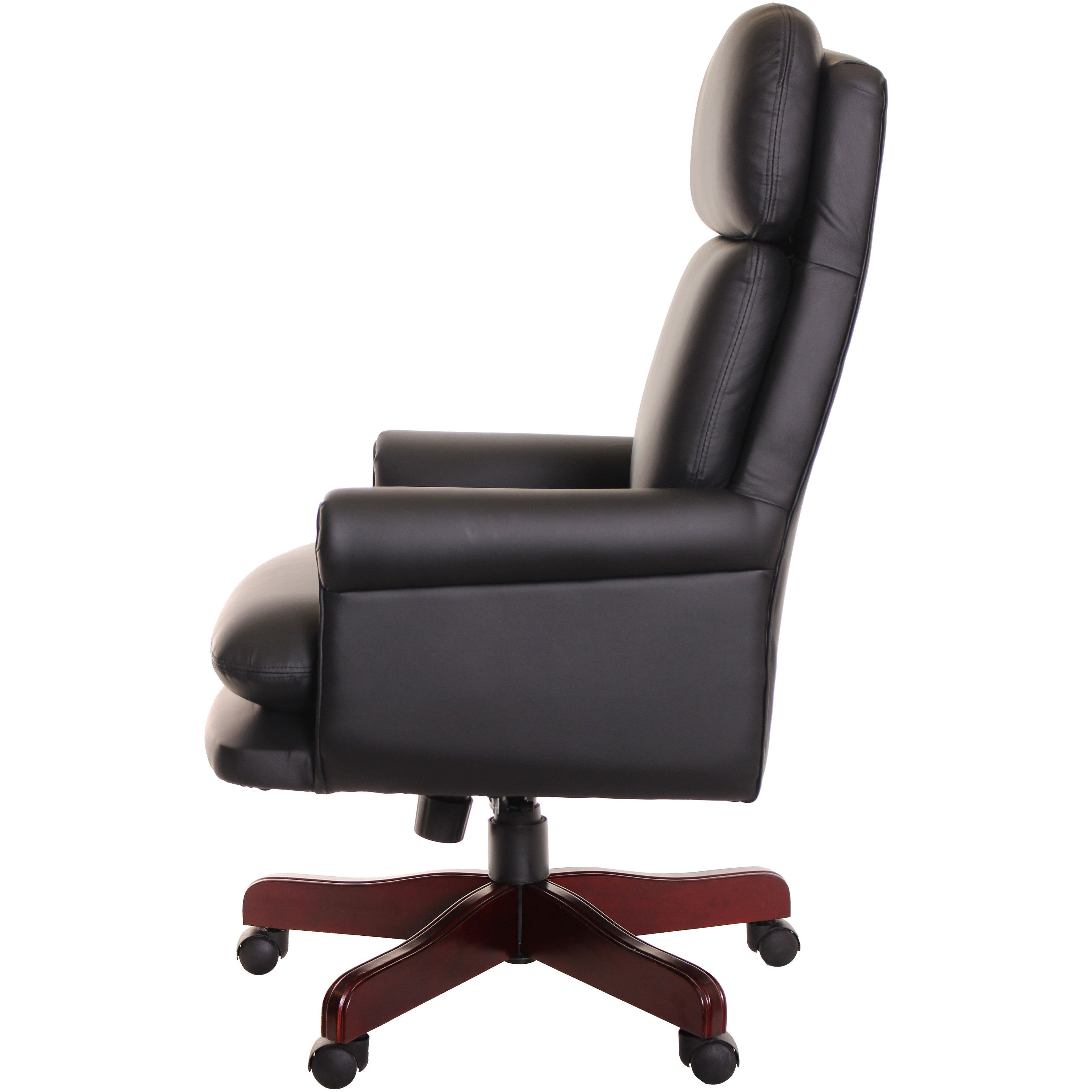 traditional leather office chairs. Traditional Executive Leather Office Chair Back Rake Angle, Black By TimeOffice Chairs