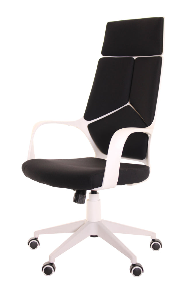 Modern Ergonomic Office Chair Black White by TimeOffice - Time Office Furniture