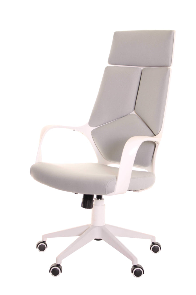 Modern Ergonomic Office Chair Grey White by TimeOffice - Time Office Furniture