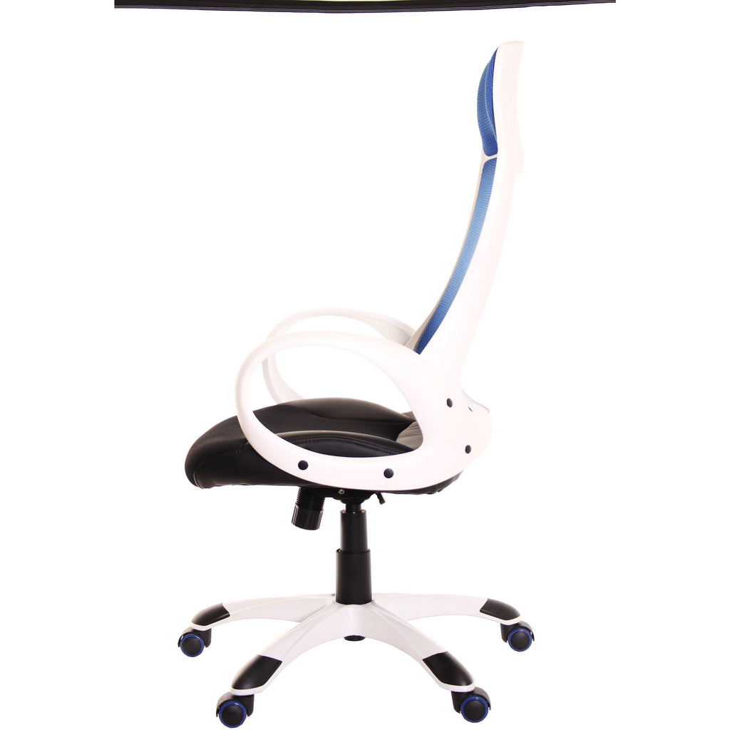 Blue Mesh Task Office Chair High Back by TimeOffice - Time Office Furniture