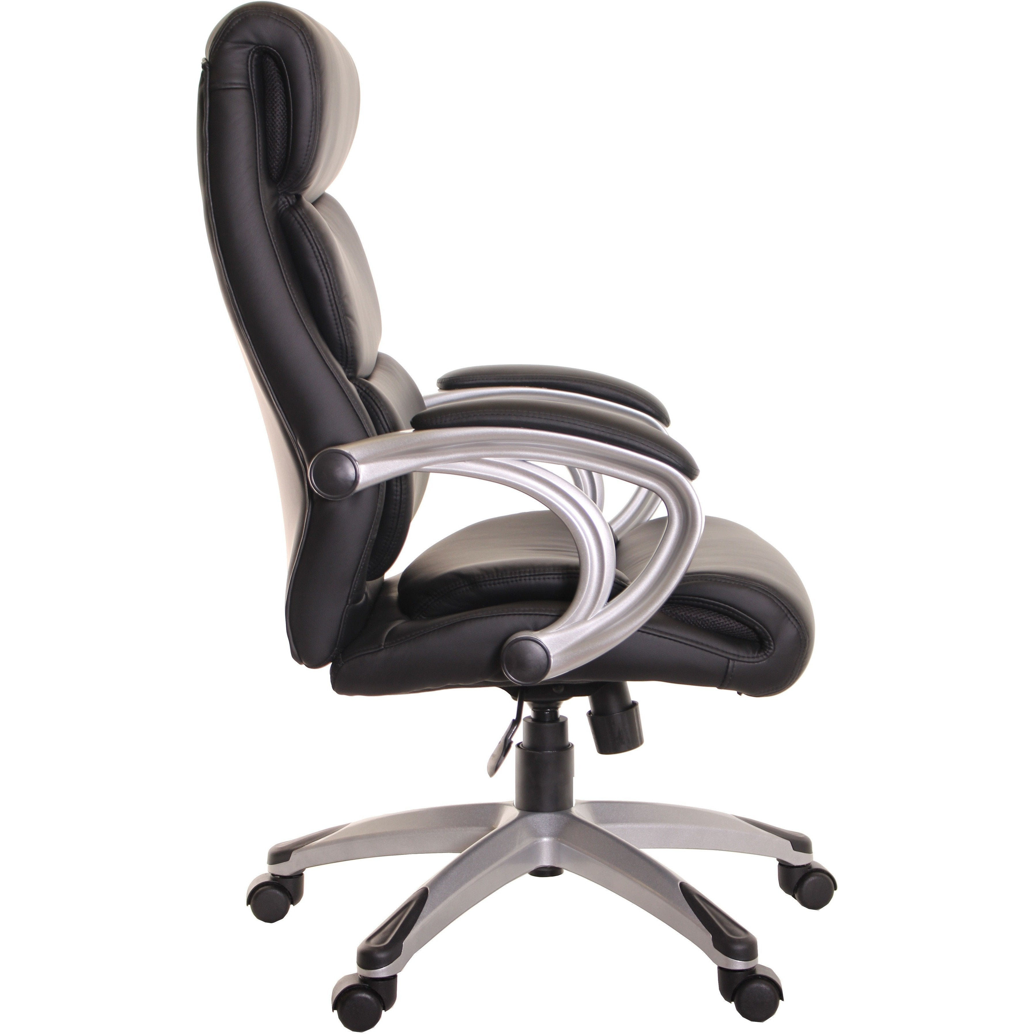high back executive leather ergonomic chair with armrest black by