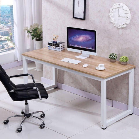 Computer Desk PC Laptop Table Wood Work-Station Study Home Office Furniture - Time Office Furniture