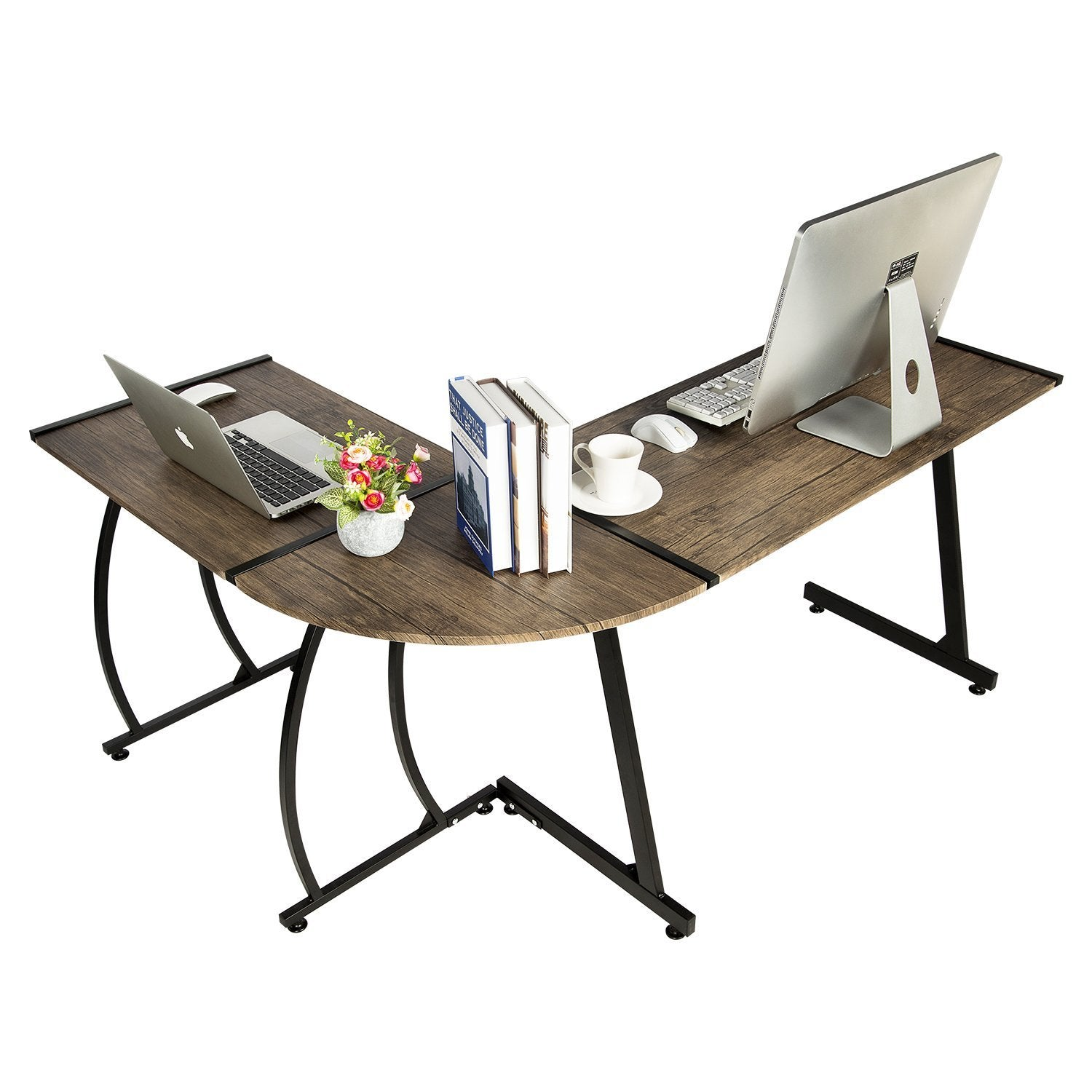 office desk table. GreenForest Office Desk L-Shape Corner Computer PC Table Workstation 3-Piece For Home,Switch 2 Sides