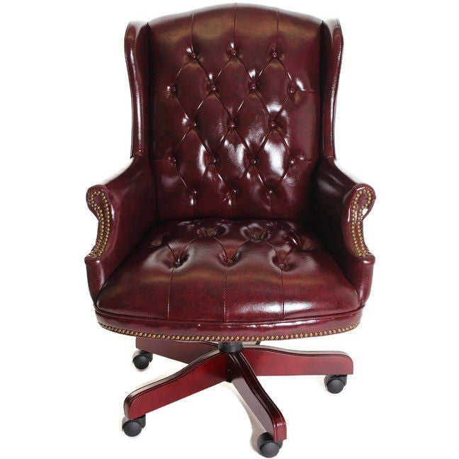 Beau Traditional Executive Chair Button Tufted Style Leather By TimeOffice