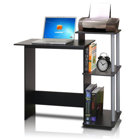 Efficient Computer Desk, Black/Grey - Time Office Furniture
