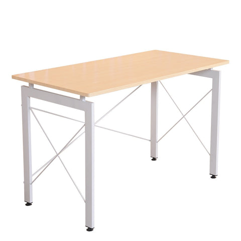 "HomCom 47"" Office Workstation Computer Table Desk - Cream - Time Office Furniture"