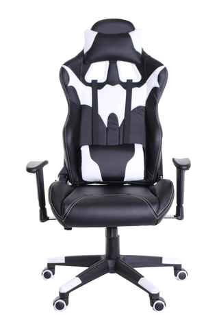 TimeOffice Batman Series Ergonomic Video Gaming Chair Race Car Style(WHITE) - Time Office Furniture