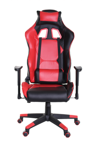 TimeOffice Sport Series Ergonomic Video Gaming Chair Race Car Style  (RED) - Time Office Furniture