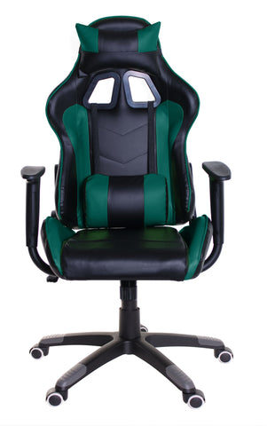 TimeOffice Ergonomic Gaming Chair Race Car Style with PU leather and Lumbar&Head Cushion for Computer Gaming and Office Working,Teal - Time Office Furniture