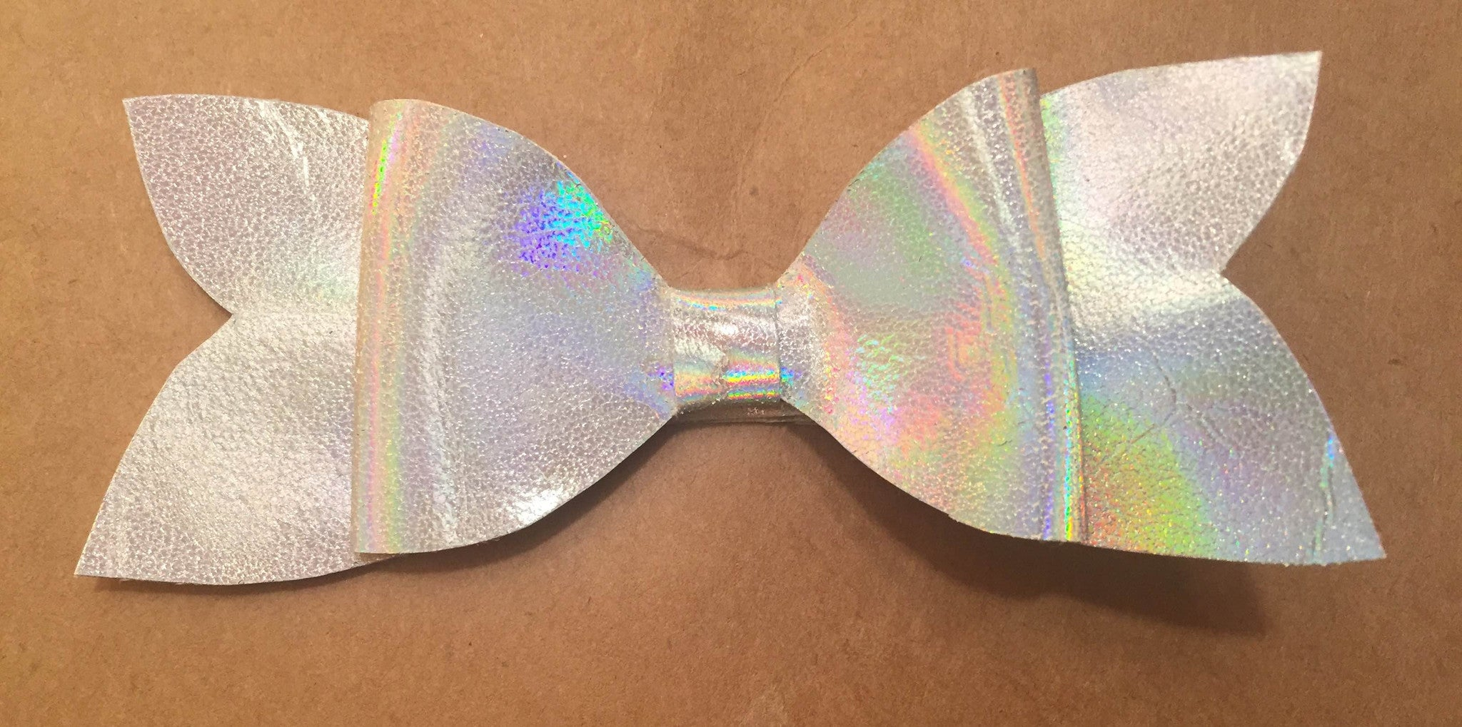 Silver Holographic Bow