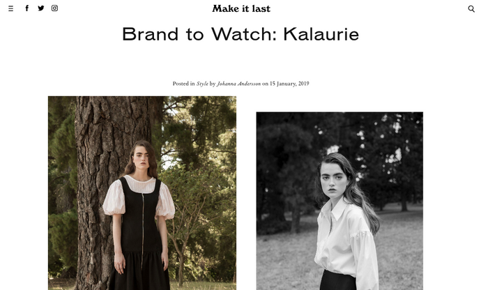 Make It Last | Brand to Watch