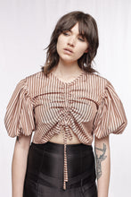 LOVERS TOP - Limited edition pink & chocolate stripes