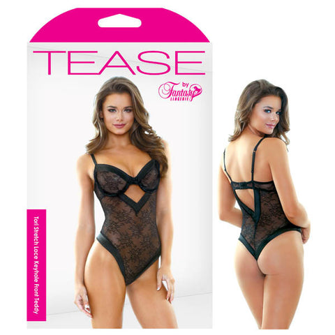 Tease Tori Stretch Lace Keyhole Front Teddy