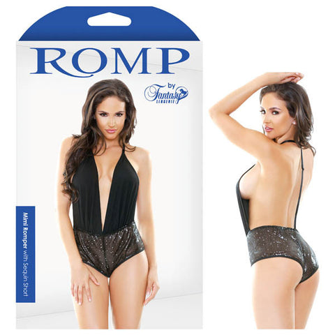ROMP MIMI ROMPER WITH SEQUIN SHORT