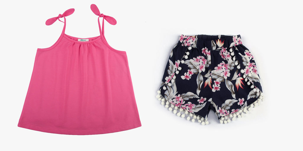 Strappy Top and Pom Pom Shorts Bundle Deal
