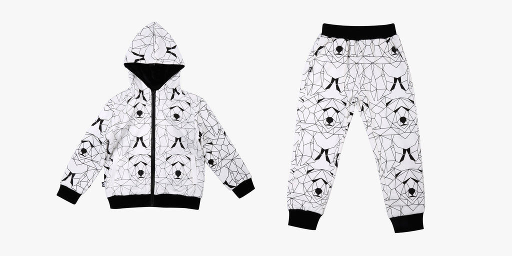 See Geo Bear Hoodie and Track Pant Outfit Bundle