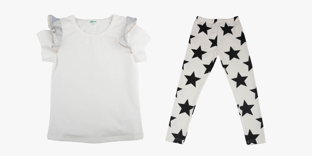 Tulle Sleeve Tee and Superstar Legging Bundle Deal