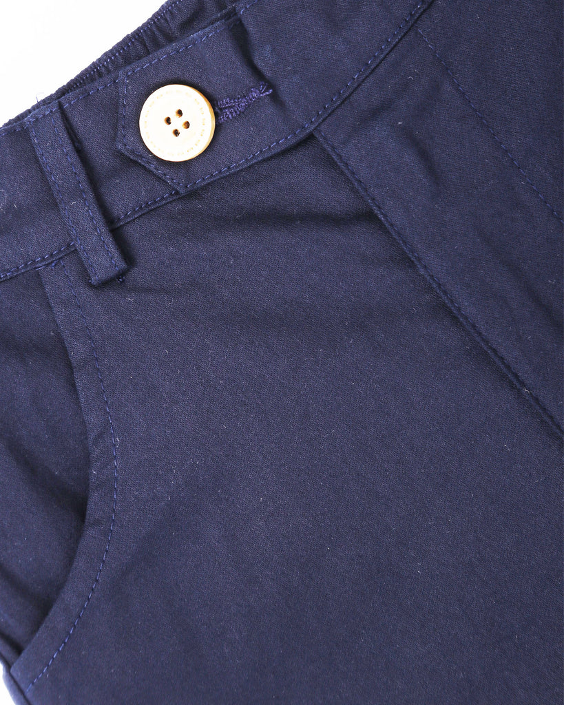 Here To Stay Chino In Navy Detail