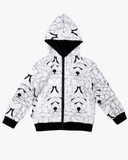 Bear Hunt Fleece Jacket Ivory Front