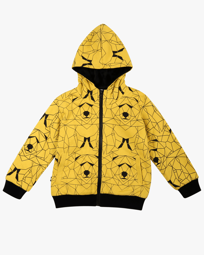 Bear Hunt Fleece Jacket Yellow Front