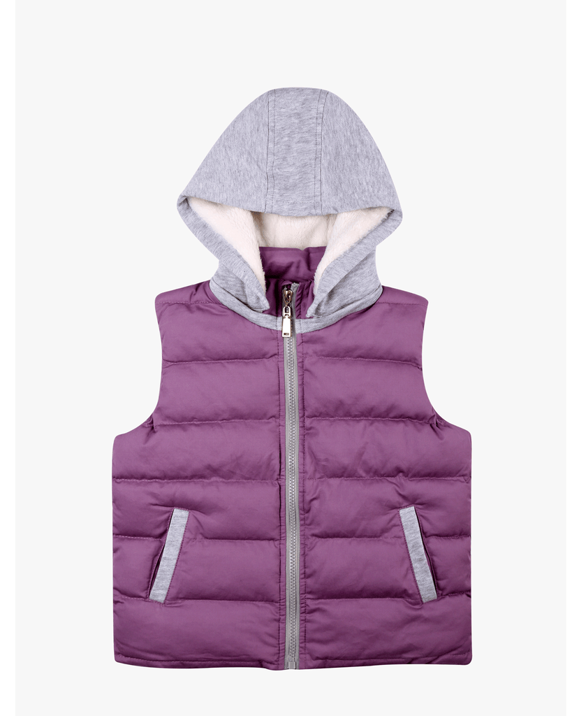 Hoodie Padded Vest Heather Front