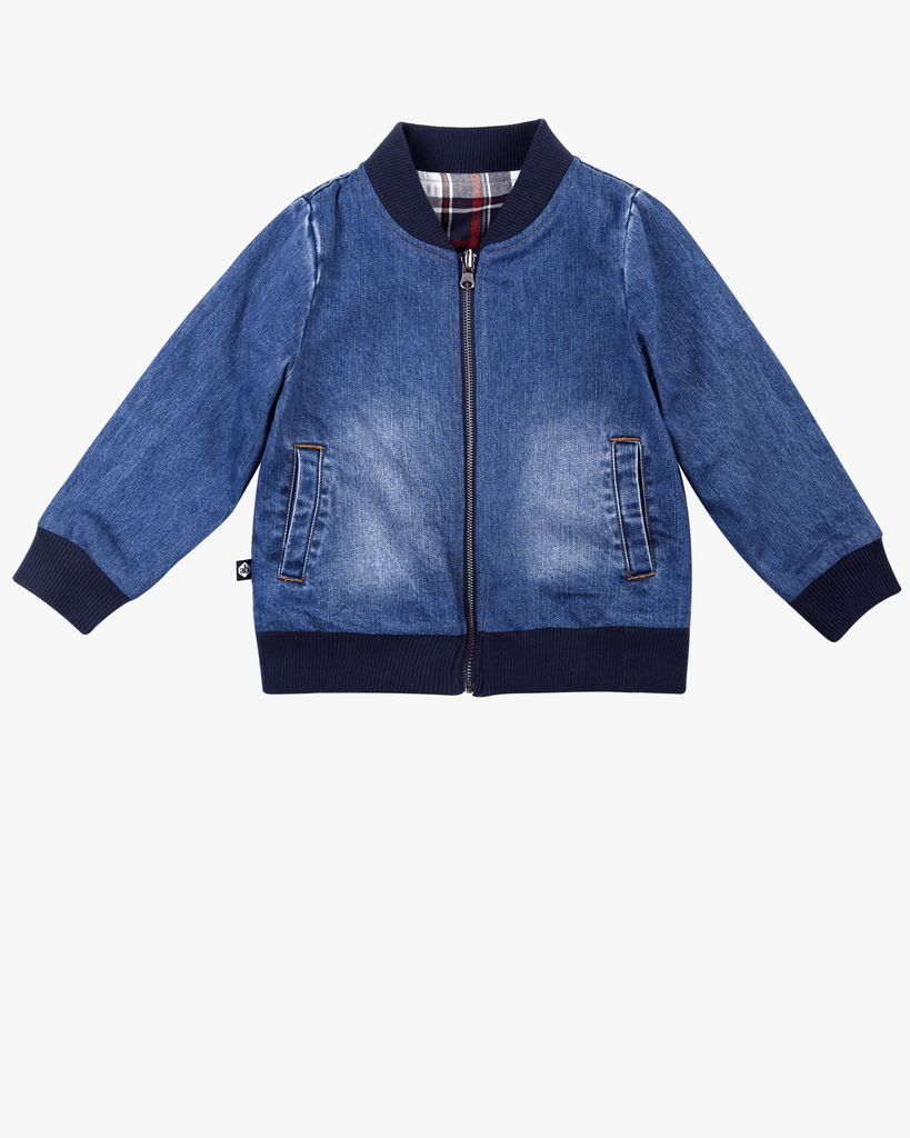 Reversible Bomber Denim Front