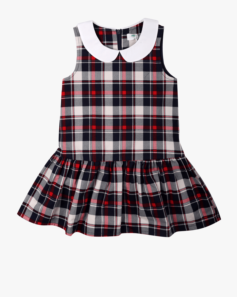 Tartan Peter Pan Dress Front