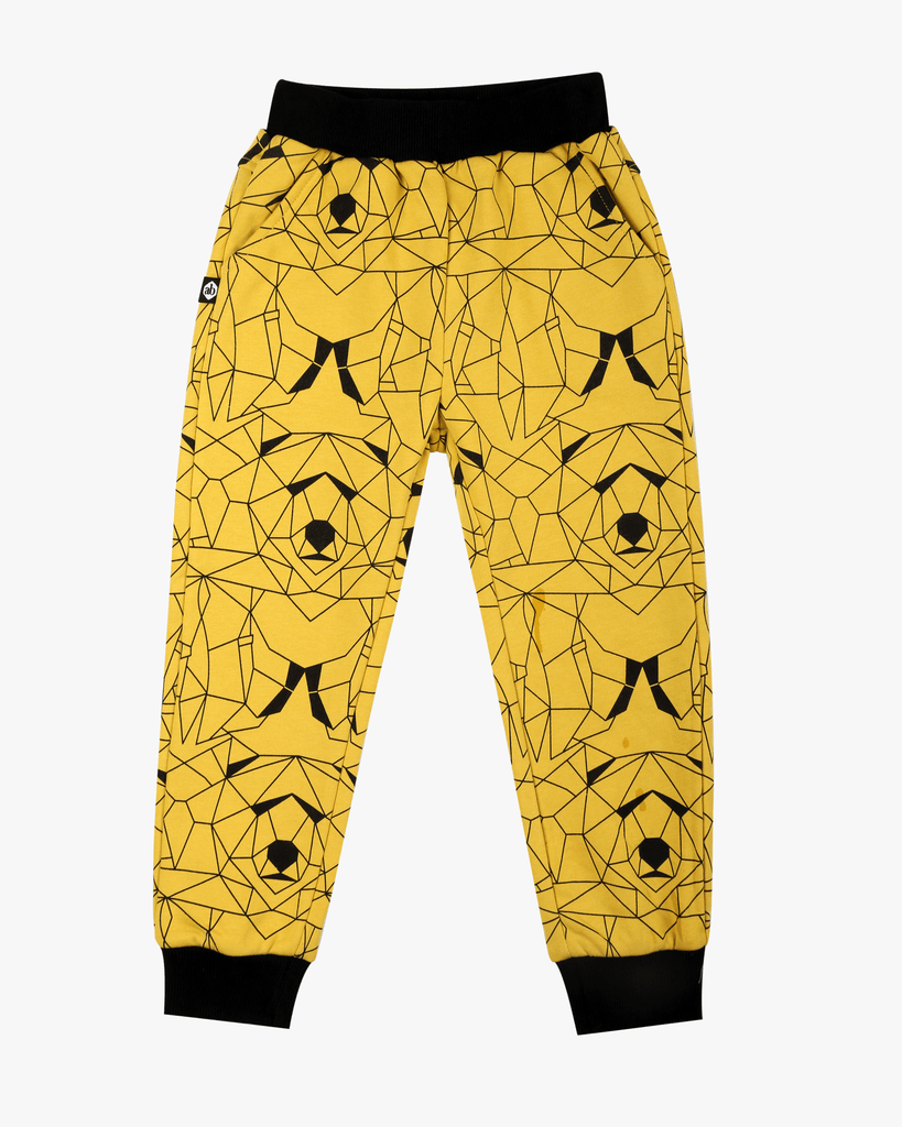 Bear Hunt Cuffed Trackies Yellow Polar Front