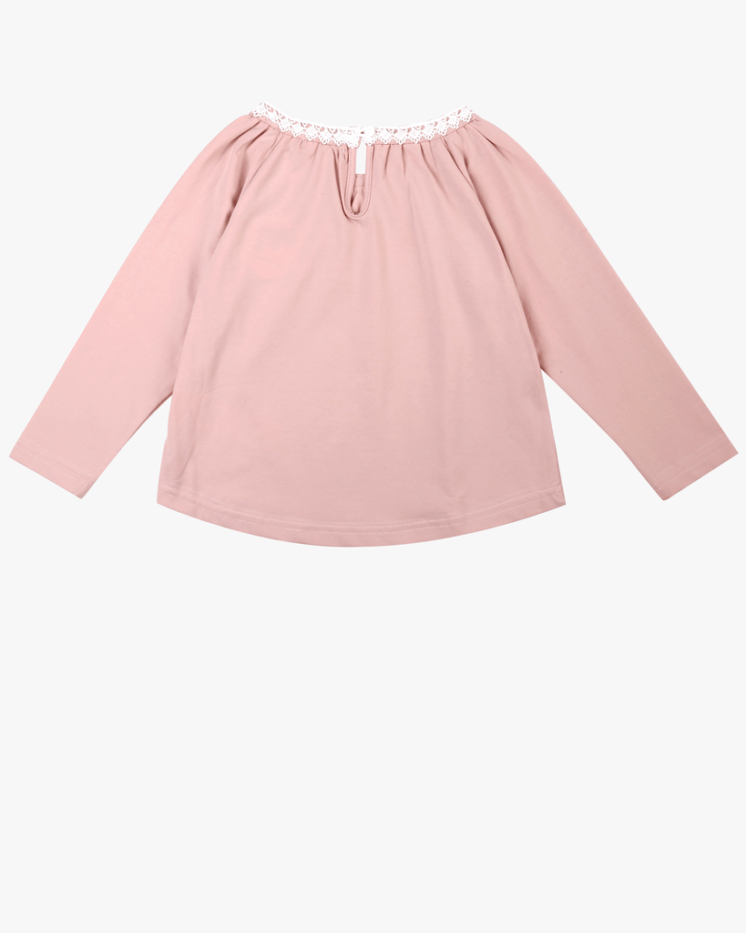 Raglan Lace Top Blush Pink back
